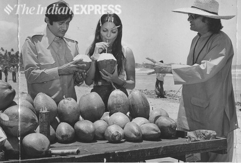 Dev Anand, Parveen Babi and Vijay Anand