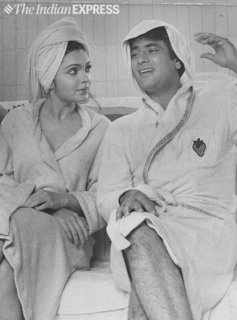 Parveen Babi and Jeetendra