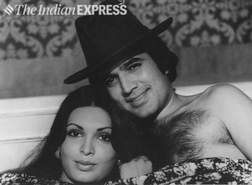 Parveen Babi and Rajesh Khanna