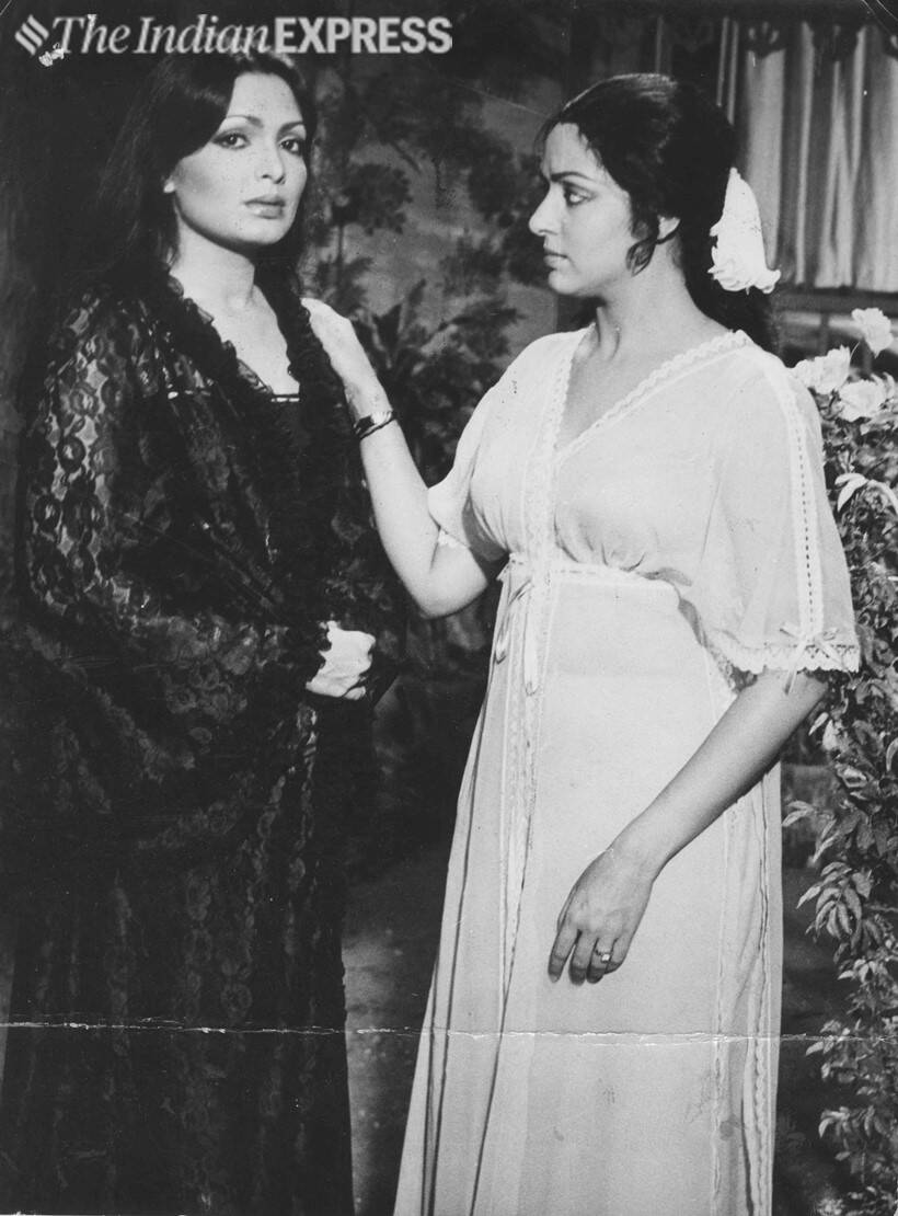 Parveen Babi and Hema Malini