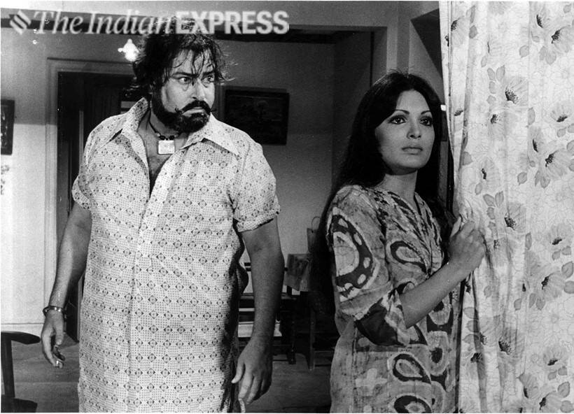 Shammi Kapoor and Parveen Babi