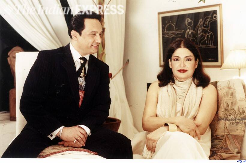 Shekhar Suman and Parveen Babi