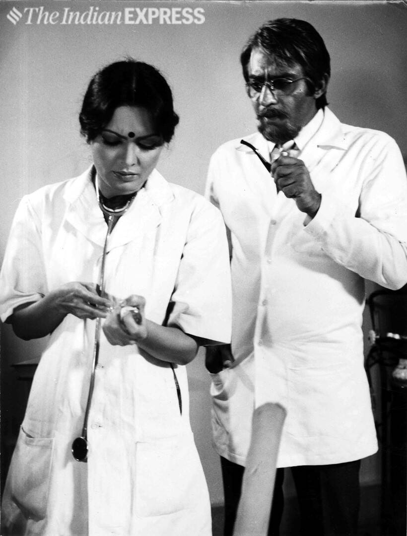 Actress Parveen Babi and actor Ranjeet