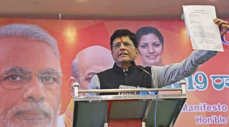Piyush Goyal, Congress BJP, Congress promises Piyush Goyal, Elections 2019, Lok Sabha elections 2019, Congress VJP elections 2019, Indian Express, latest news