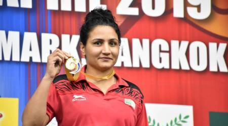 Boxer Pooja Rani at Asian Championships in Bangkok