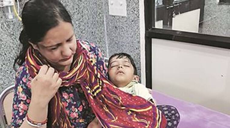 Four-year-old hurt in Panchkula pothole accident can't go to school for a month