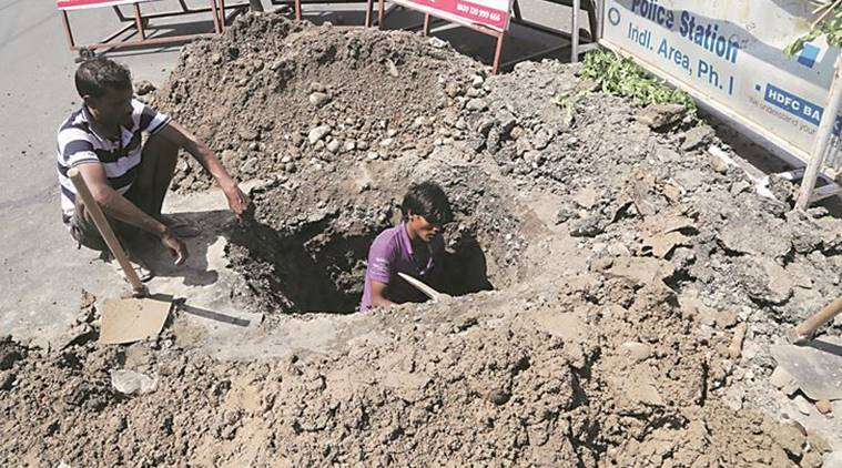 Chandigarh: Pothole on year-old road lands six in hospital in one day