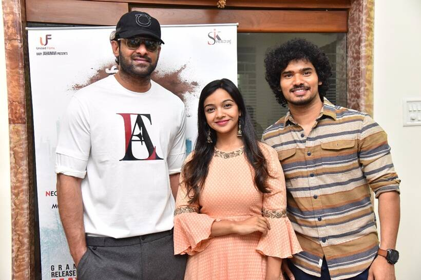 Prabhas with actors of Nuvvu Thopu Ra