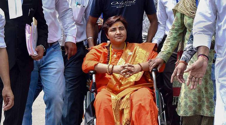 sadhvi pragya thakur, malegaon blasts accused sadhvi pragya thakur, sadhvi pragya thakur to fight elections, plea against sadhvi pragya thakur fighting polls, nia court, nia court on sadhvi pragya thakur, election commission, election news