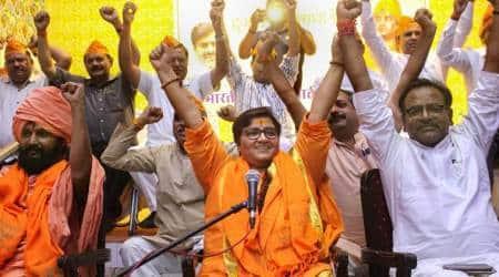 Sadhvi Pragya calls Godse deshbhakt, Sadhvi Pragya calls Godse patriot in Parliament,Nathuram Godse, BJP, PM Modi says can't forgive Pragya thakur for Godse remark, Special Protection Group (Amendment) Bill, Lok sabha, malegaon blasts, indian express