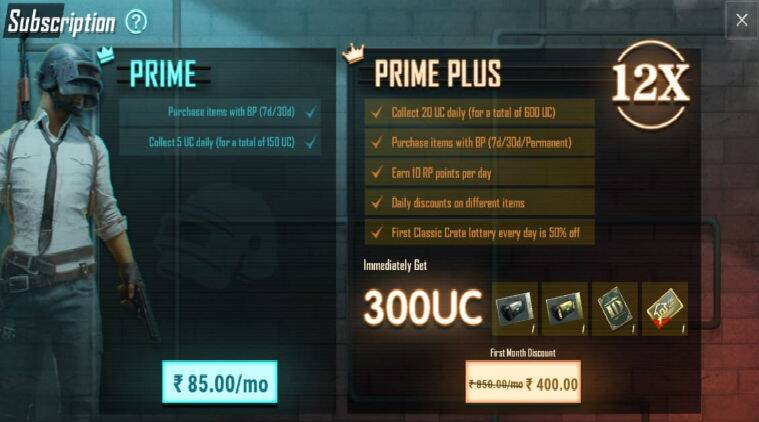 PUBG Mobile Prime, Prime Plus subscription plans launched, but discrepancy in prices