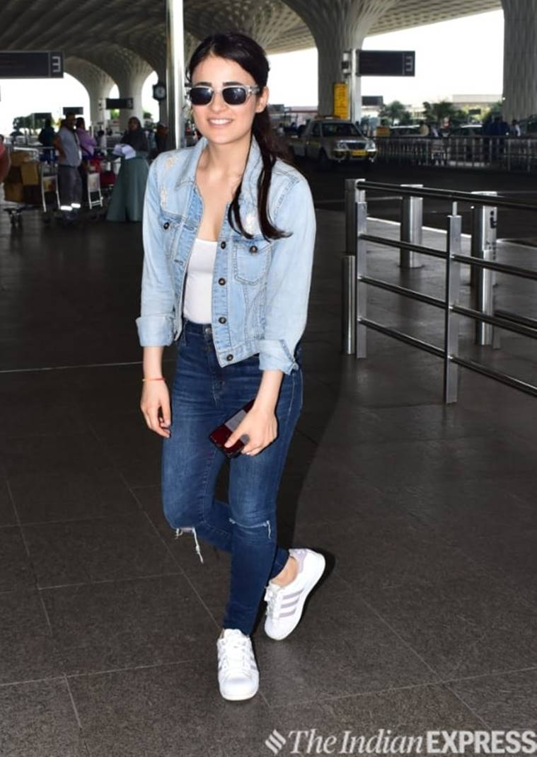 Radhika Madan, airport look, airport fashion, celebrity, indian express