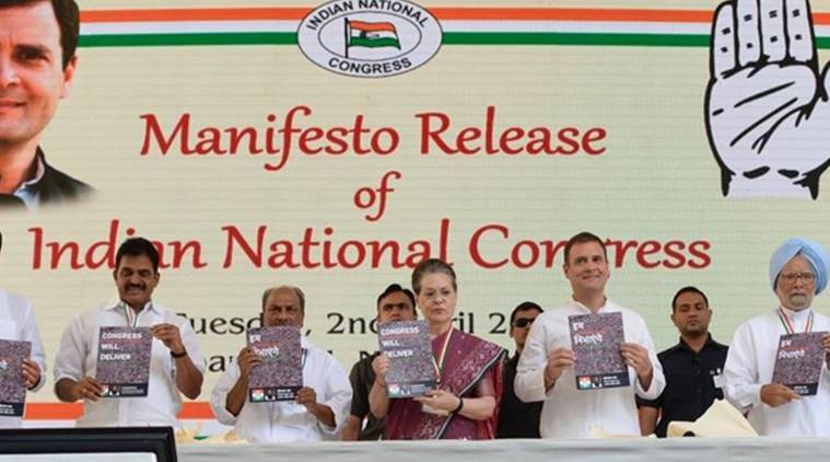 congress manifesto, congress manifesto rahul gandhi, rahul gandhi, congress election manifesto, congress election promises, AFSPA, congress on AFSPA, indian penal code, national security advisor, national security council, rahul gandhi, chief of defence staff, lok sabha elections 2019, election news, p chidambaram