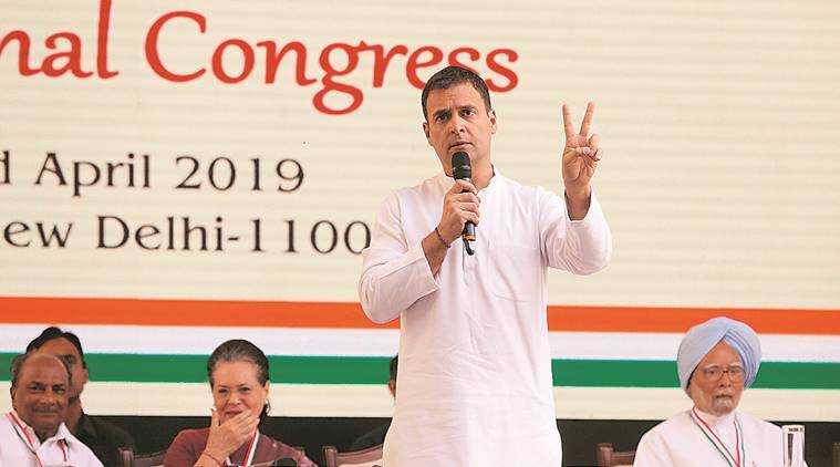 lok sabha elections, lok sabha elections 2019, lok sabha polls, elections, maharashtra elections, elections in maharashtra, congress, rahul gandhi, rahul gandhi maharashtra visit, rahul gandhi rally, rahul gandhi wayanad nomination, nana patole, aurungabad, latur district, bsp, mayawati, election news, indian express news