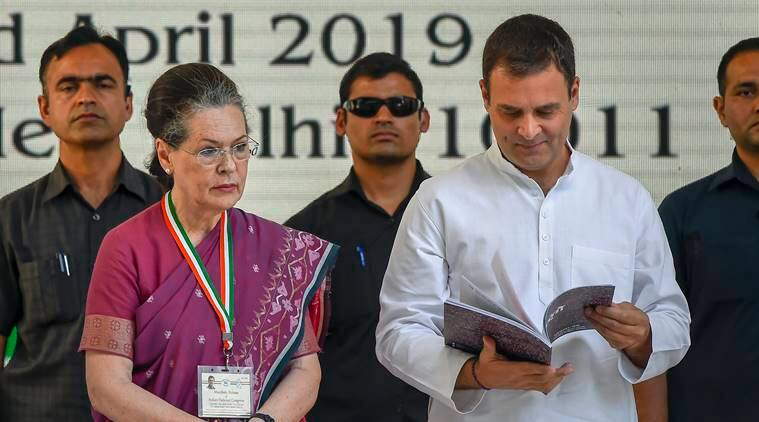 congress manifesto, rahul gandhi, कांग्रेस का घोषणापत्र, rahul gandhi congress manifesto, 2019 lok sabha elections, election news, indian express,
