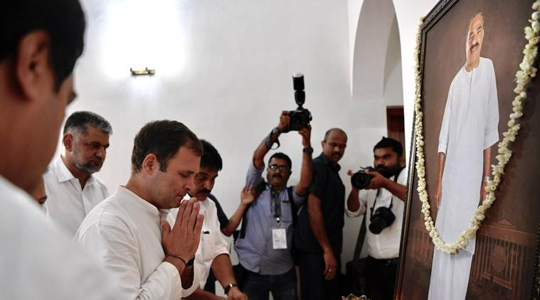 Rahul Gandhi, Congress, Elections in Kerala, KM mani, KM Mani Death, Rahul in Pathanamthitta, Kerala Congress, UDF in Kerala, Lok Sabha elections 2019, Election news, Decision 2019, Indian Express