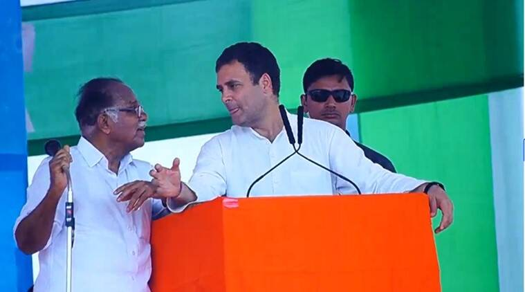 rahul gandhi, rahul gandhi kerala rally, PJ Kurien, PJ Kurien rahul gandhi translation, indian express, india news, viral video