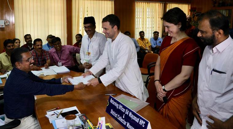 Rahul Gandhi files nomination in Wayanad, says will not speak a word against CPM