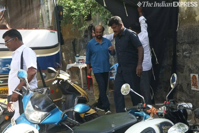 Rajinikanth spotted in Mumbai