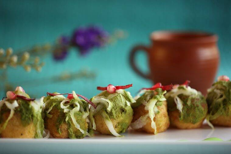 chaat, recipe, food, aloo tikki, indian express