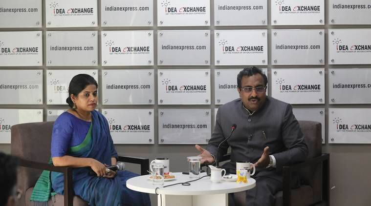 Ram madhav at the Indian Exxpress Ideas Exchange: 'We hoped Oppn would put up a credible fight at least... But see Varanasi drama, all self-goals'