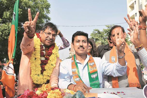lok sabha elections, Rajyavardhan Singh Rathore, Rajyavardhan Rathore Jaipur MP, Krishna Poonia, lok sabha elections 2019, lok sabha polls, election news, rahul gandhi congress, indian express