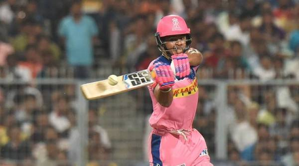 Rajasthan Royals(RR)Riyan Parag during the Indian Premier League 2019 (IPL T20) cricket match between Rajasthan Royals(RR) and Kolkata Knight Riders (KKR)at Eden Garden in Kolkata