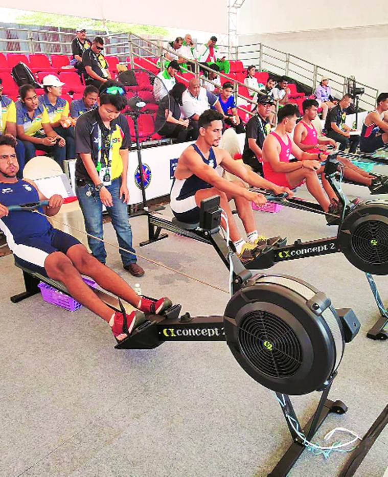 rowing, india rowing team, Inderpal Singh, Inderpal Singh indoor rowing, Tokyo Olympics, sports news, indian express