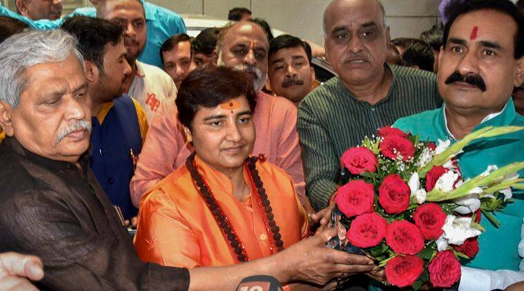 sadhvi pragya thakur, sadhvi pragya thakur controversies, sadhvi pragya thakur remarks, sadhvi pragya thakur gets EC notice, sadhvi pragya thakur contest elections, ram temple, ayodhya dispute, babri masjid demolition