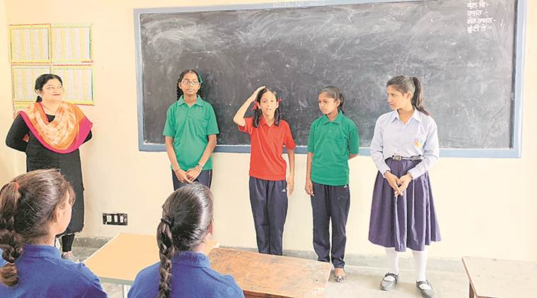 schools, Ladhowali, government secondary school, failure in english, english language, India News, Indian Express