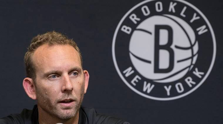 Brooklyn Nets General Manager Sean Marks during a news conference introducing the team's draft picks in New York.