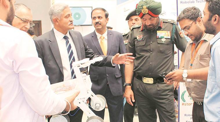 robotics, artificial intelligence, ai, defence, seminar on robotics, robotics seminar, military institue of technology, lieutenant gen pjs pannu, pune, warfare, miltary, military robotics, pune news, indian express news