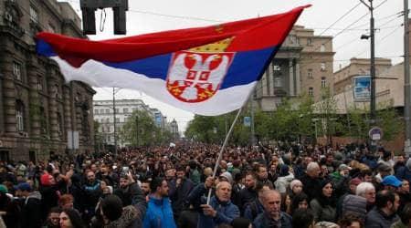 Thousands rally in Serbia against populist leader Aleksandar Vucic