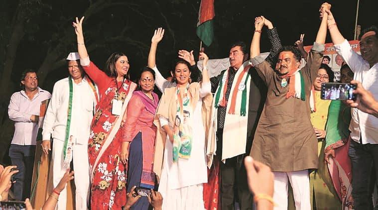 Lok Sabha polls: Shatrughan Sinha campaigns for Urmila Matondkar, Sanjay Nirupam