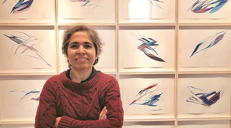 sheila makhijani, artist, installation, drawing, art and culture, indian express