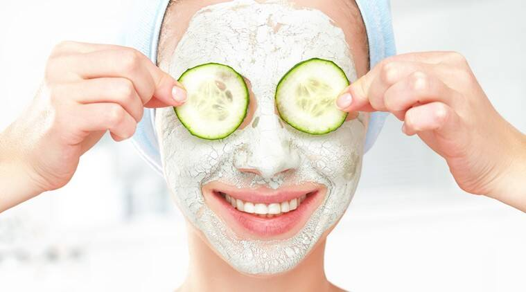 skin, skincare, face mask, cucumber, indian express, indian express news