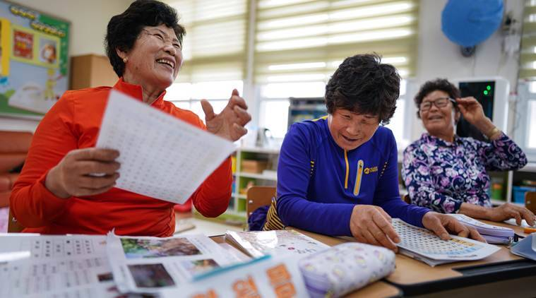 Running out of children, a South Korea school enrolls illiterate grandmothers