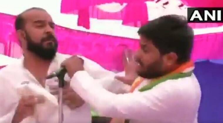 Congress leader Hardik Patel slapped at election rally in Gujarat