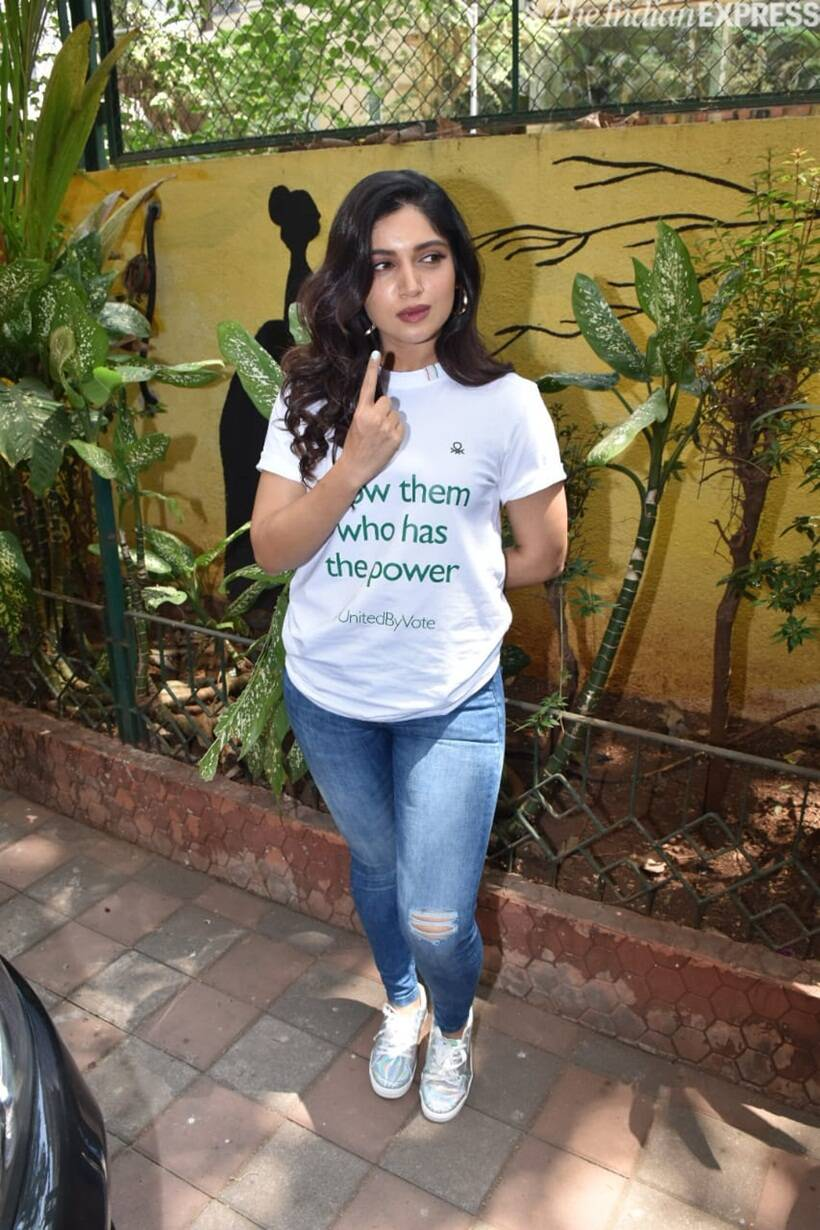 bhumi pednekar vote event