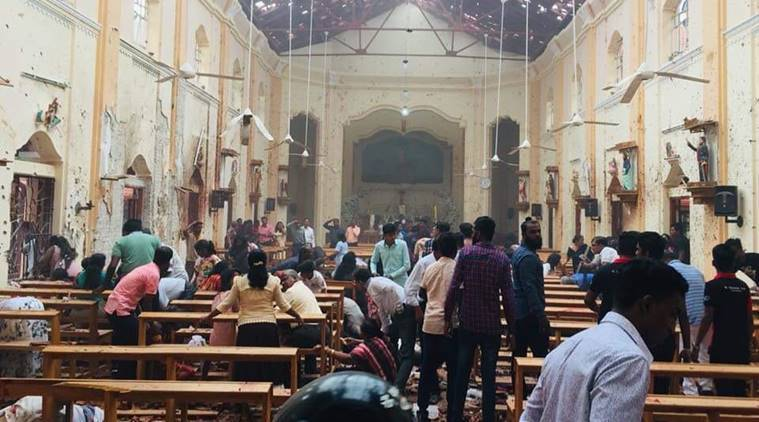 Blasts hit two Sri Lanka churches, 80 injured