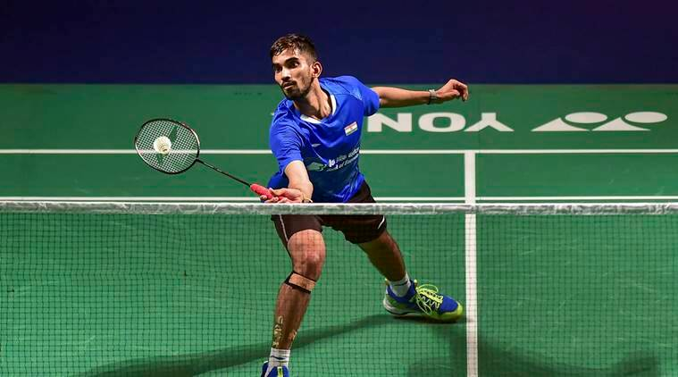 India's Srikanth Kidambi plays a shot against Chinese Huang Yuxiang during the final round of Yonex-Sunrise India Open 2019 badminton match, in New Delhi