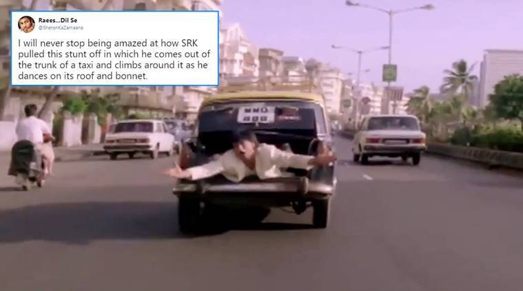 SRK, 25YearsOfAnjaam, shah rukh khan movies, SRK movies, Bollywood, Anjaam, Anjaam car scene, Anjaam viral video