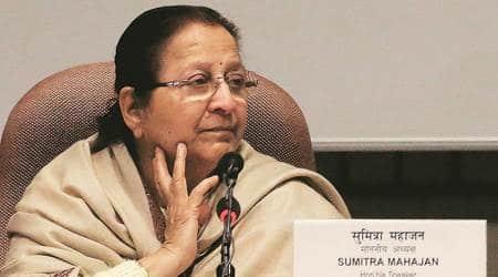 Former speaker Sumitra Mahajan, Sumitra Mahajan, Sumitra Mahajan death, Sumitra Mahajan rumour, Sumitra Mahajan news, india news, indian express