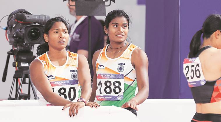 Swapna Barman, Heptathlon, Asian Athletics Championships, swapna barman silver, barman silver, swapna silver, aac day 3, dutee chand, jinson johnson, sports news, indian express