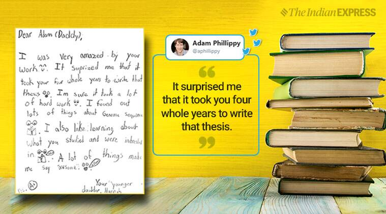 8-year-old's review of her father's thesis will leave you in splits!