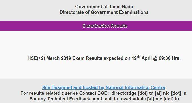 SEO Title: TN Board HSE 12th Result 2019: Tamil Nadu Board