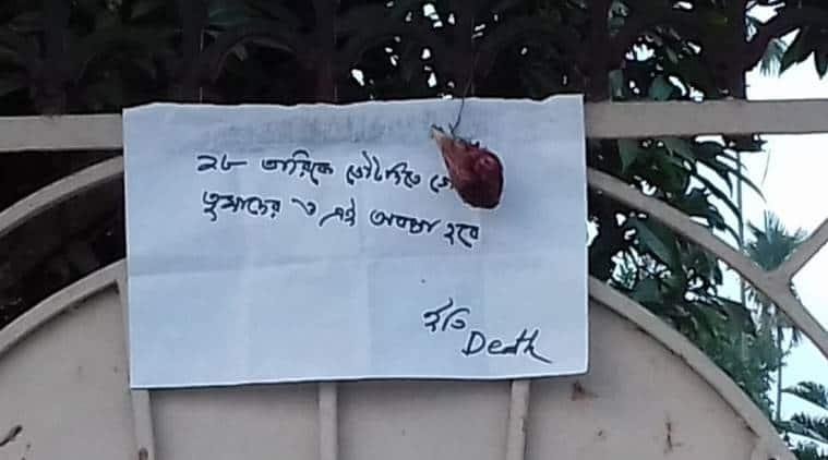 Political threats days before East Tripura polling: Severed chicken heads, handwritten notes