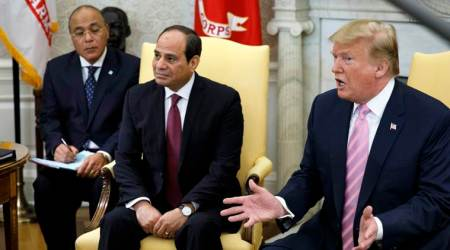 Peace workshop, US Peace workshop, Trump peace workshop, Israeli-Palestinian peace conference, Bahrain peace conference, Mideast peace, White House Abdel-Fattah el-Sissi, Egypt government, Donald Trump, World news, Indian Express news