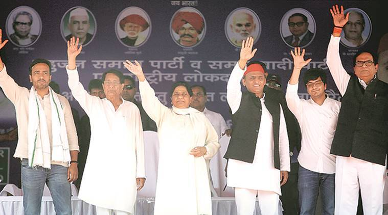 Akhilesh Yadav, Mayawati, sp bsp alliance, sp bsp rally, up gathbandhan, bjp congress, lok sabha elections, lok sabha elections 2019, lok sabha polls, up elections, lok sabha elections in up, up alliance, election news, indian express
