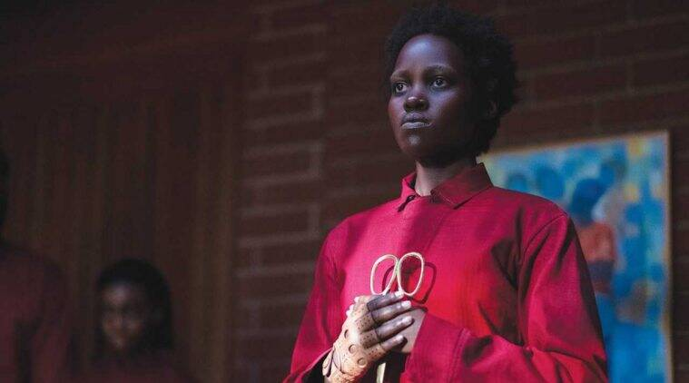 Lupita Nyong'o as the Tethered from the movie, Us.